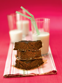 Chocolate Pudding Cake Squares