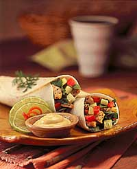Pork & Vegetable Wraps