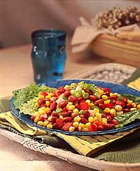Red Bean & Corn Salad with Lime-Cumin Dressing