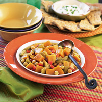Curried Eggplant, Squash & Chickpea Stew