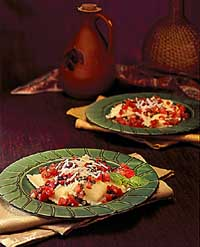 Ravioli with Tomato Pesto