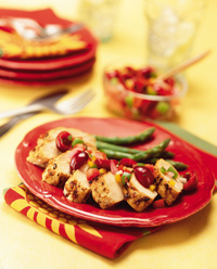 Spiced Turkey with Fruit Salsa