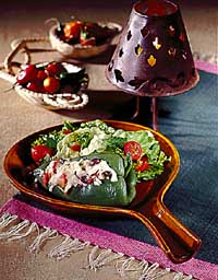 Black Beans & Rice-Stuffed Chili