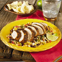 Grilled Chicken with Spicy Black Beans & Rice