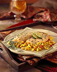 Tilapia & Sweet Corn Baked in Parchment