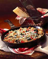 Spinach & Turkey Skillet