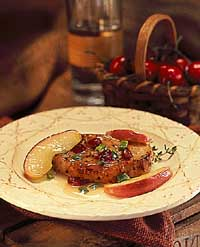 Apple-Cherry Glazed Pork Chop