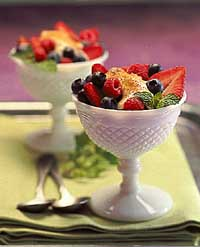 Berries with Banana Cream