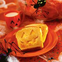 Toasted Cheese Jack-O'-Lanterns