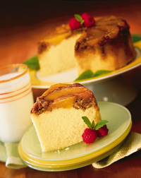 Peach-Pecan Upside-Down Cake
