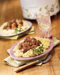 Meatballs in Burgundy Sauce