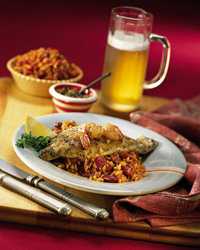 Cajun Catfish with Red Beans and Rice