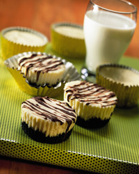 Individual Chocolate Coconut Cheesecakes
