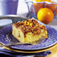 Orange Coffee Cake with Streusel Topping