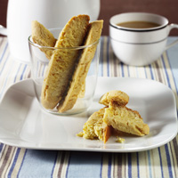 Blondie Biscotti with Almonds