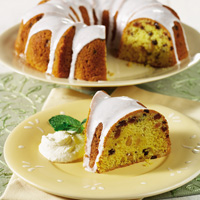 Panettone Cake with Almond Glaze and Mascarpone Cream