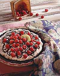 Chocolate Raspberry Mousse Pie