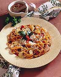 Linguini with Tuna Antipasto