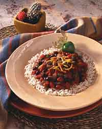 Southwestern Two Bean Chili & Rice