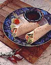 Oriental Shrimp Burritos