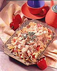 Chicken Tetrazzini with Roasted Red Peppers
