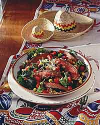 Beef & Salsa Salad Supreme