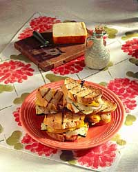 Grilled Vegetable & Cheese Sandwiches
