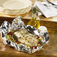 Tilapia & Sweet Corn Baked in Foil