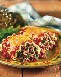 Spicy Lasagna Rollers