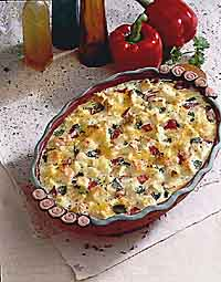 Roasted Pepper and Sourdough Brunch Casserole