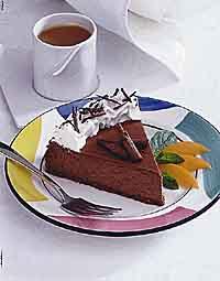 Chocolate Sour Cream Cheesecake