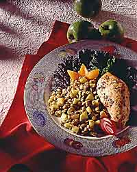 Curried Lentils with Fruit