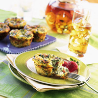 Individual Spinach & Bacon Quiches
