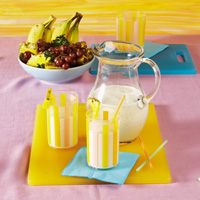 Banana-Pineapple Breakfast Shakes