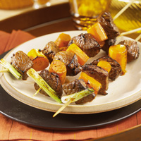 Ginger Beef and Carrot Kabobs