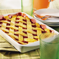 Lattice-Topped Deep Dish Cherry Pie