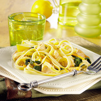 Lemon Salmon and Spinach Pasta