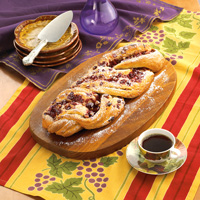 Walnut-Cranberry Twist Danish