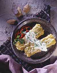 Green Enchiladas with Chicken