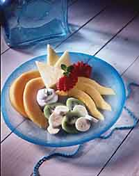 Fruit Tray with Honey-Lime Sauce