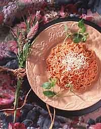 Homemade Angel Hair Pasta with Classic Tomato Sauces