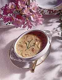 Sherried Oyster and Brie Soup