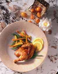 Orange-Ginger Broiled Cornish Hen