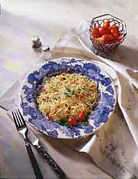 Angel Hair Pasta with Red Chili Sauce