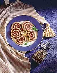 Mint Chocolate Pinwheels
