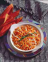 Savory Matchstick Carrots