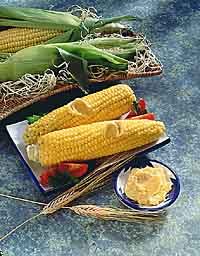 Cob Corn in Barbecue Butter