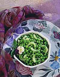 Peas with Cukes & Dill