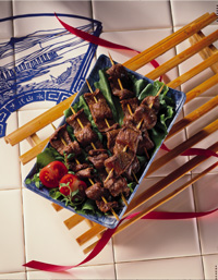 Mini Marinated Beef Skewers