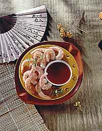 Chilled Shrimp in Chinese Mustard Sauce